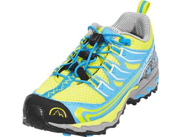 La Sportiva Falkon Low - Chaussures running Enfant - jaune bleu 5f6d8b7e70c